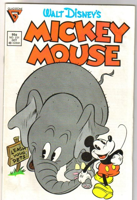 Gladstone Mickey Mouse  #231  comic book near mint 9.4