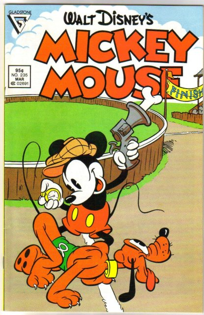 Gladstone Mickey Mouse #235  comic book near mint 9.4
