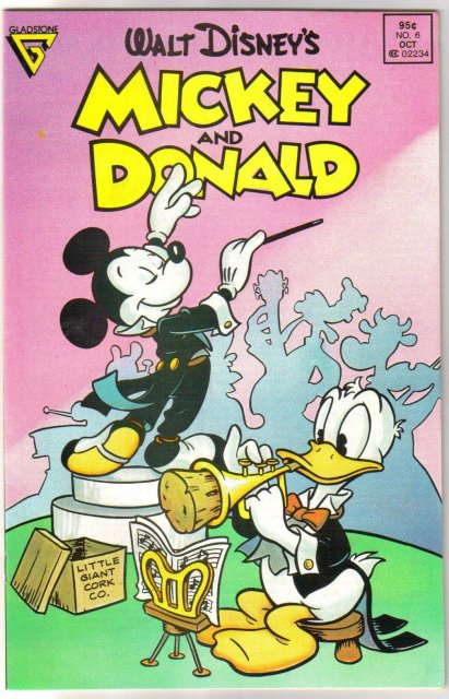 Gladstone's Mickey and Donald #6 comic book near mint 9.4