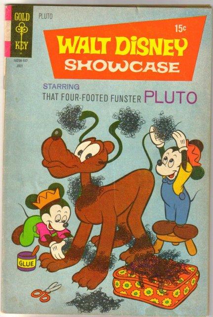 Walt Disney Showcase #4 comic book very good 4.0 starring Pluto