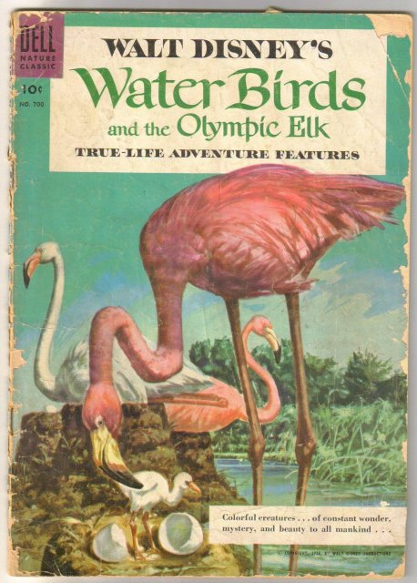 Dell Four Color #700 Walt Disney's Water Birds and the Olympic Elk comic book fair 1.5
