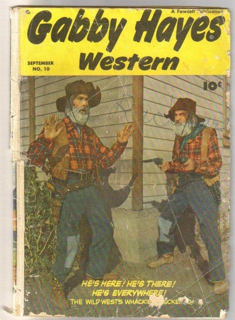 Gabby Hayes Western #10 comic book fair/good 1.5