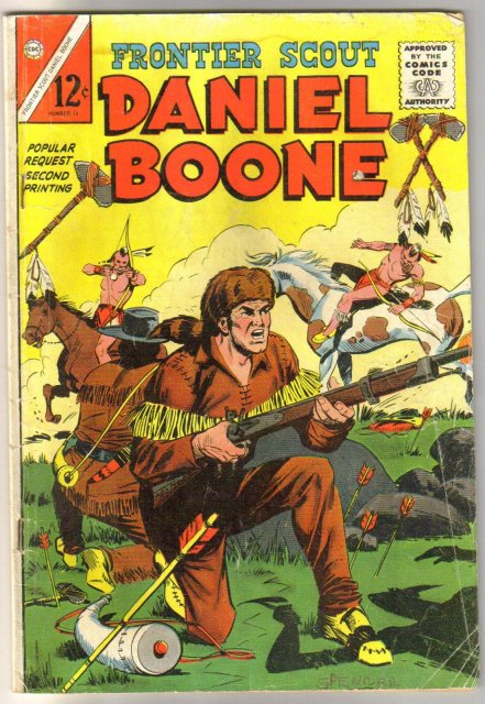 Frontier Scout Daniel Boone #14 comic book very good 4.0