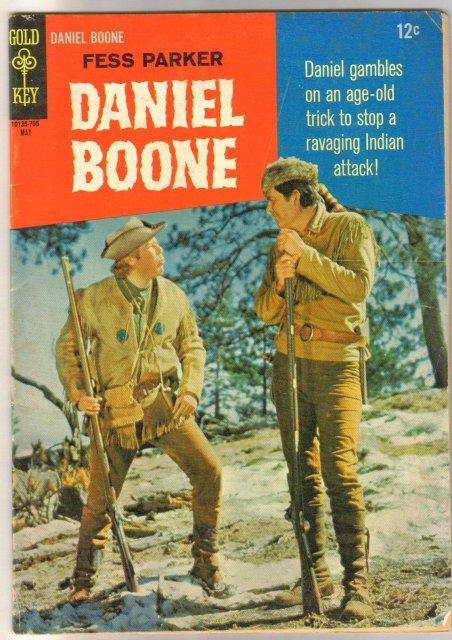 Fess Parker Daniel Boone #9 comic book very good/fine 5.0