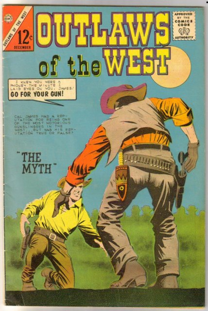 Outlaws of the West #46 comic book very good/fine 5.0