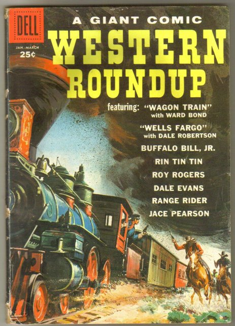 Dell Giant #25 Western Roundup comic book very good 4.0