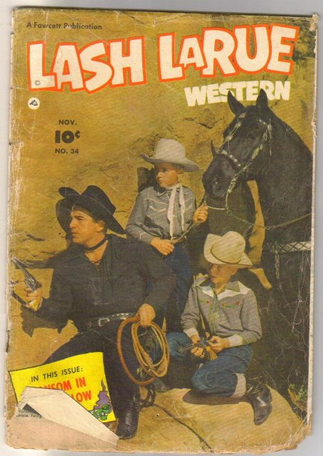 Lash Larue Western #34 comic book poor 1.0