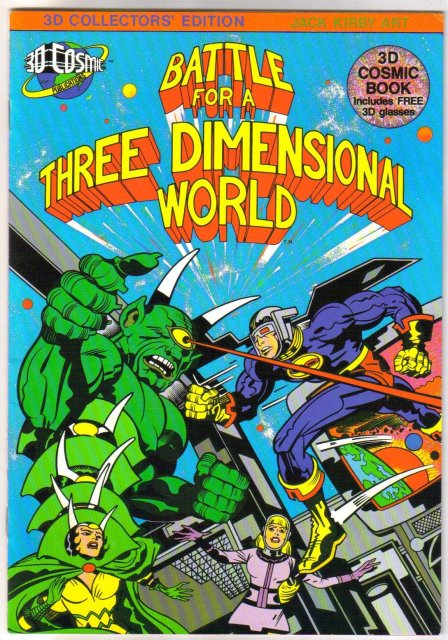 Battle for a Three Dimensional World 3d comic book with glasses near mint 9.4