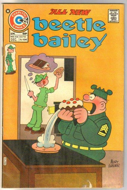Beetle Bailey #108 comic book very good 4.0