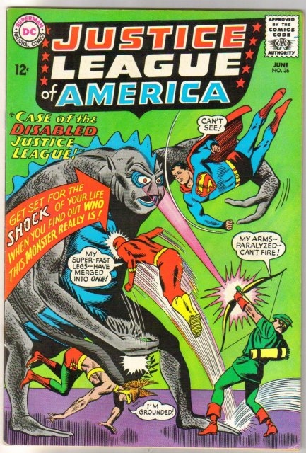 Justice League of America #36 comic book very fine minus (inked date on title page) 7.5