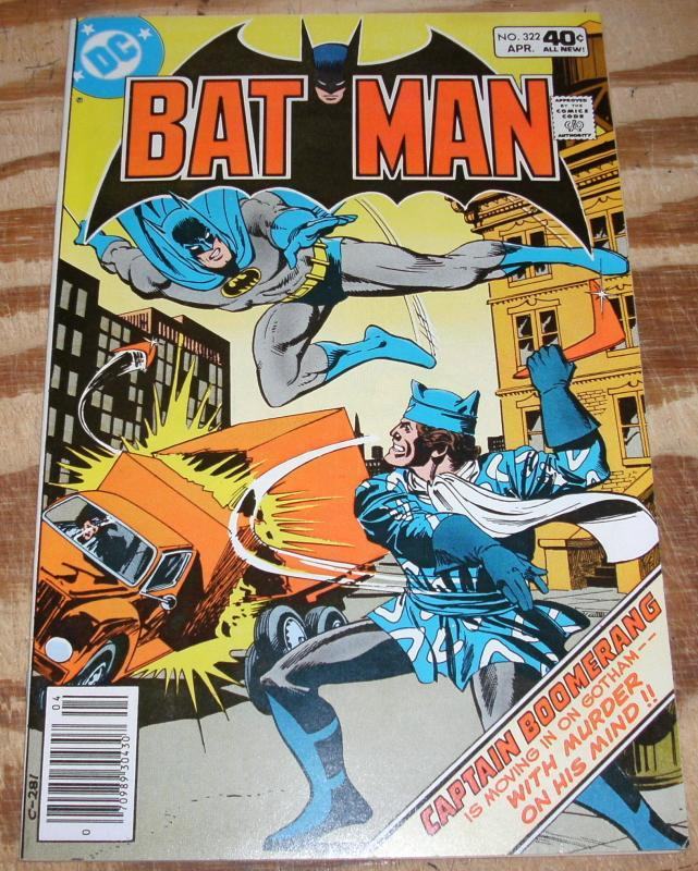 Batman #322 comic book near mint plus 9.6