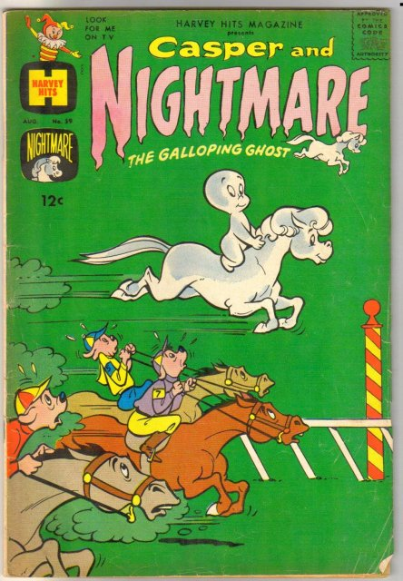 Harvey Hits Magazine #59 Casper and Nightmare comic book very good 4.0