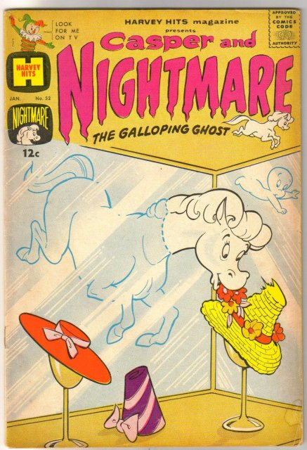 Harvey Hits Magazine #52 Casper and Nightmare comic book very good 4.0
