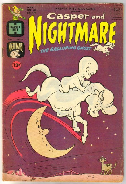 Harvey Hits Magazine #56 Casper and Nightmare comic book very good plus 4.5