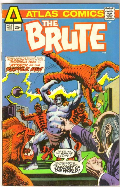 Atlas Comics' The Brute #2 comic book very fine 8.0