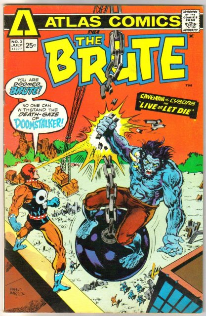 Atlas Comics' The Brute #3 comic book very fine 8.0