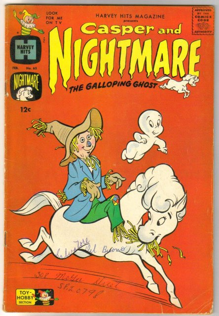 Harvey Hits #65 presents Casper and Nightmare comic book very good 4.0