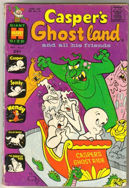 Casper's Ghostland #51 comic book very good 4.0