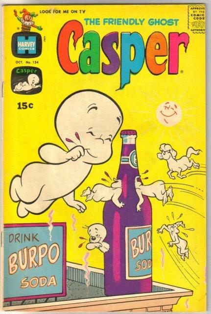 The Friendly Ghost Casper #134 comic book very good 4.0
