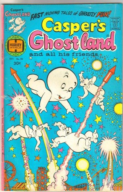 Casper's Ghostland #92 comic book very good 4.0