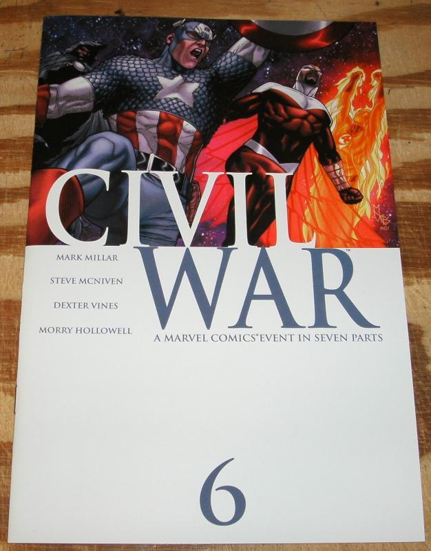 Civil War #6 comic book pristine mint 10.0