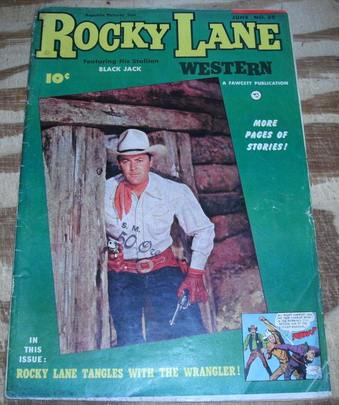 Rocky Lane #50 comic book vg 4.0