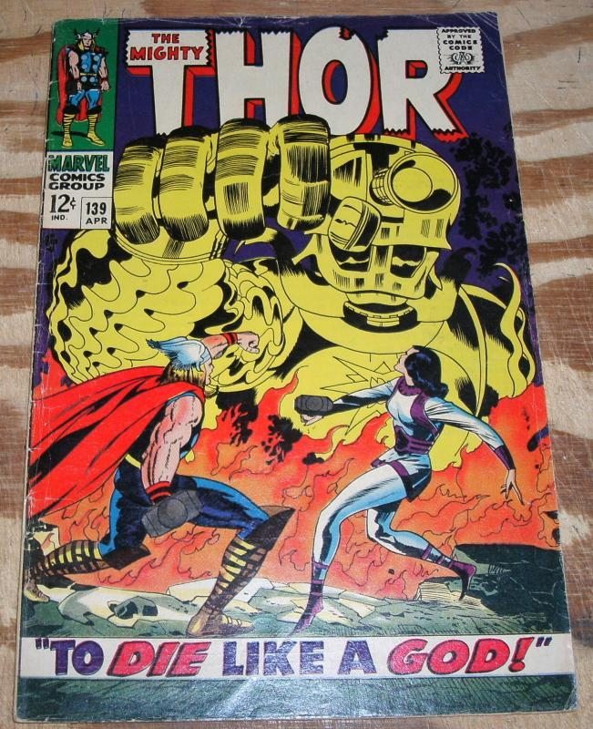 The Mighty Thor #139 comic book vg/fn 5.0