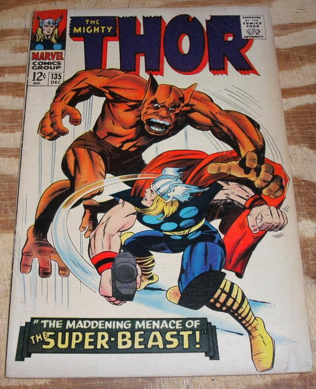 The Mighty Thor #135  very good/fine 5.0