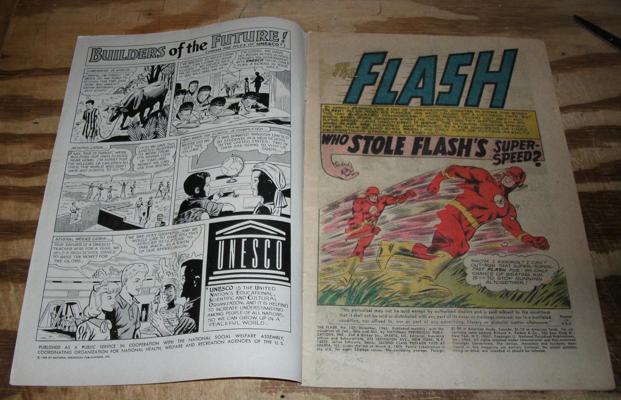 Flash #157 comic book vg/fn 5.0