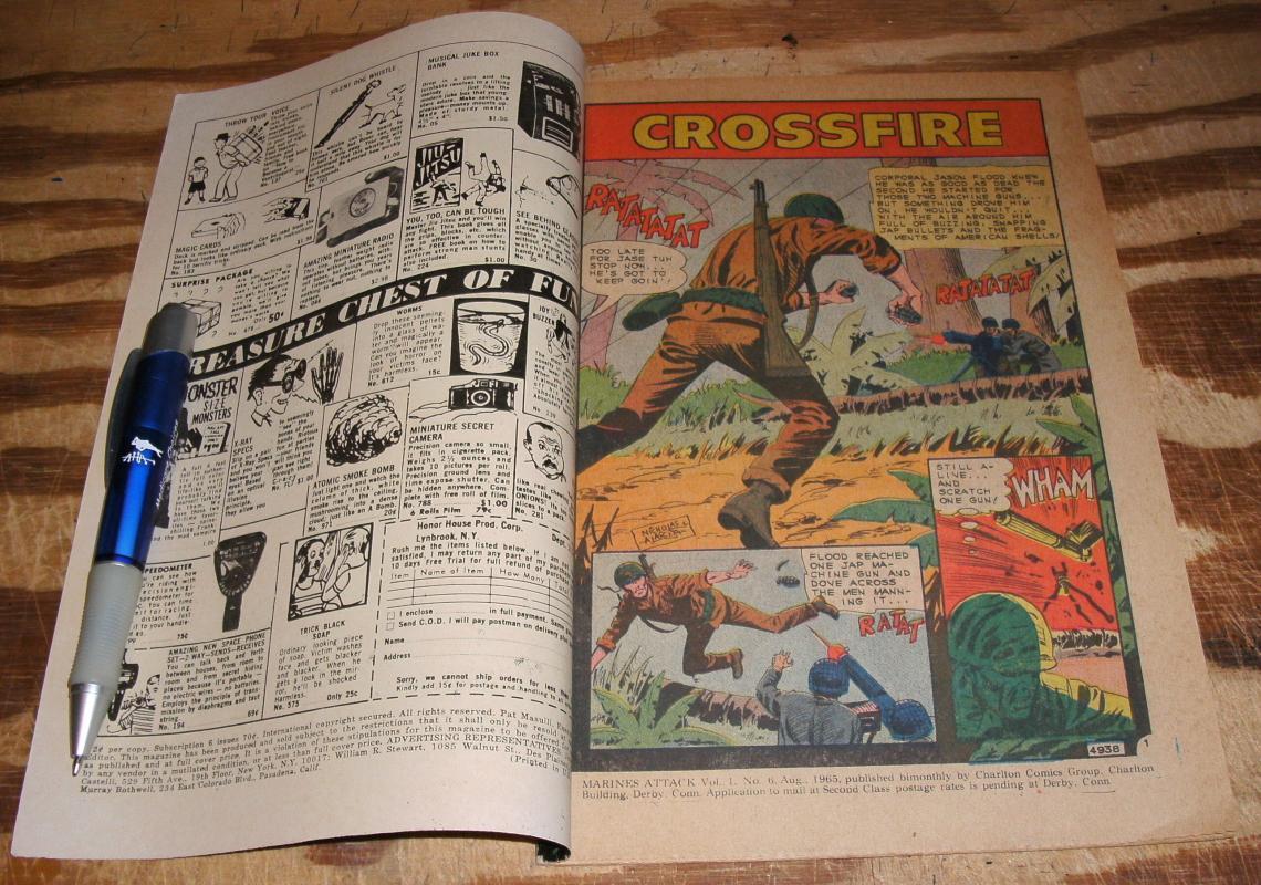 Marines Attack #6 comic book very fine 8.0