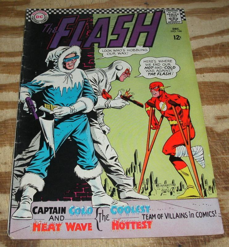 The Flash #166 comic book very good/fine 5.0