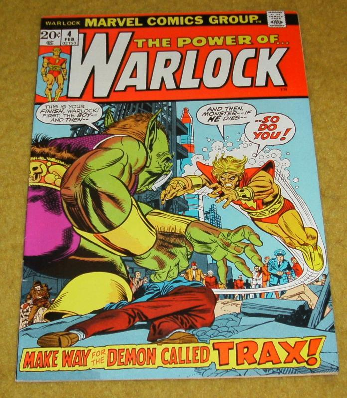 The Power of Warlock #4 near mint 9.4