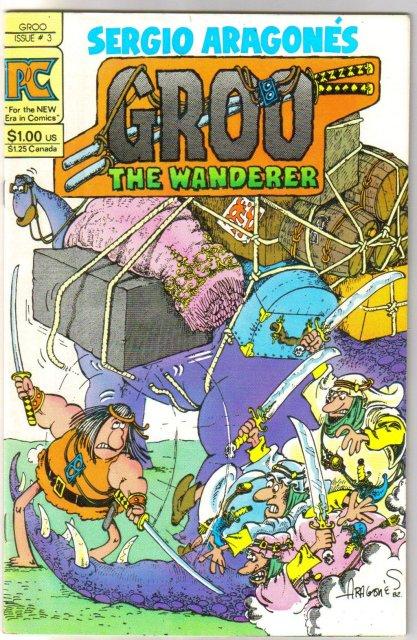 Groo #3 comic book original by Pacific Comics vf 8.0