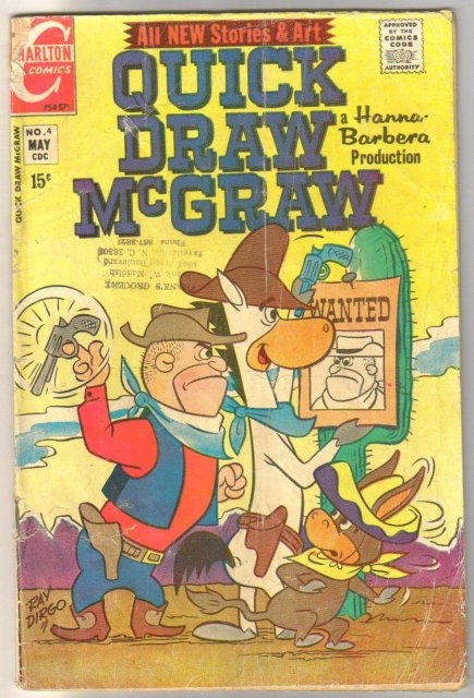 Quick Draw McGraw #4 comic book good 2.0