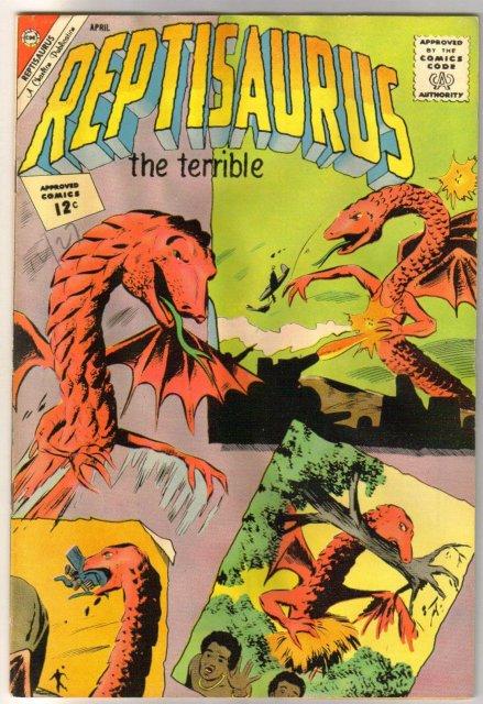 Reptisaurus the Terrible #4 comic book good/very good 3.0