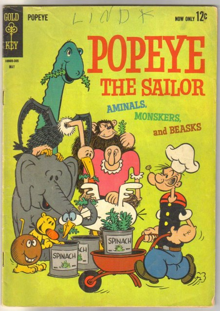 Popeye the Sailor #68 comic book very good 4.0