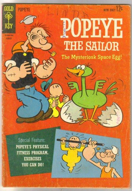 Popeye the Sailor #69 comic book very good 4.0