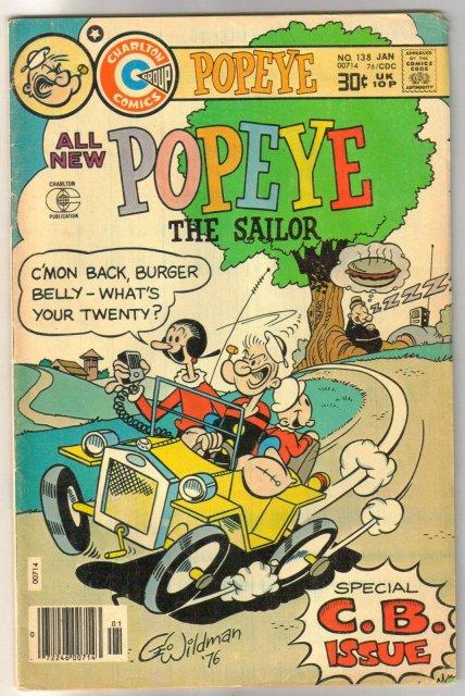 Popeye the Sailor #138 comic book very good/fine 5.0