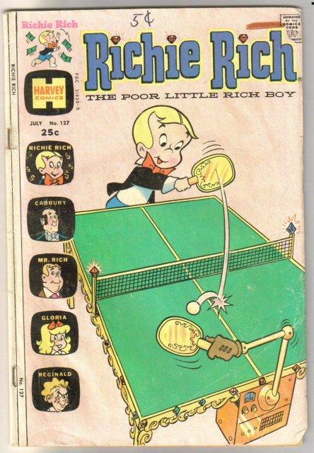 Richie Rich the Poor Little Rich Boy #127 comic book good/very good 3.0