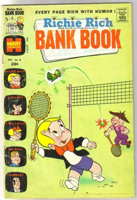 Richie Rich Bank Book #8 comic book very good 4.0