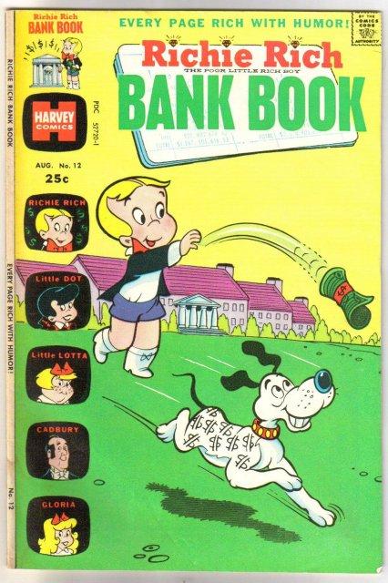 Richie Rich Bank Book #12 comic book fine 6.0