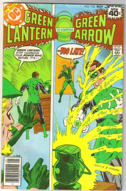 Green Lantern #116 comic book very good/fine 5.0