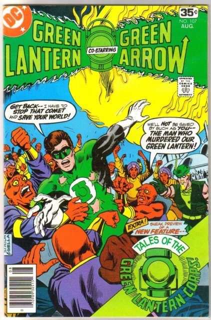 Green Lantern #107 comic book fine/very fine 7.0