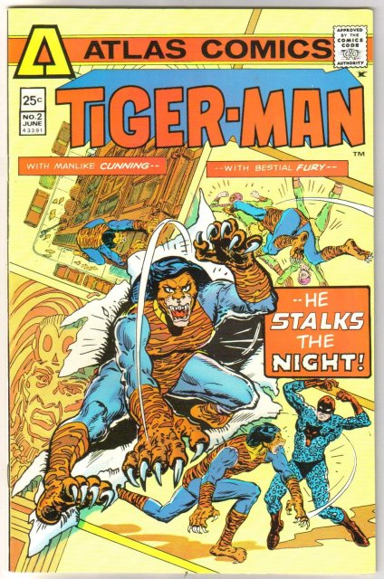 Tiger-man #2 comic book very fine/near mint 9.0