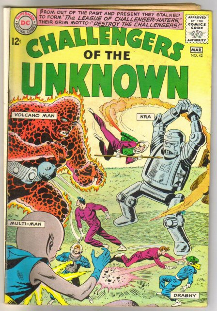 Challengers of the Unknown #42 comic book very good plus 4.5