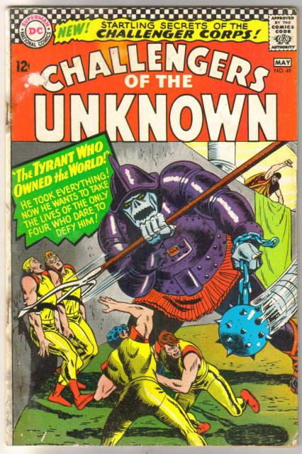 Challengers of the Unknown #49 comic book very good  4.0