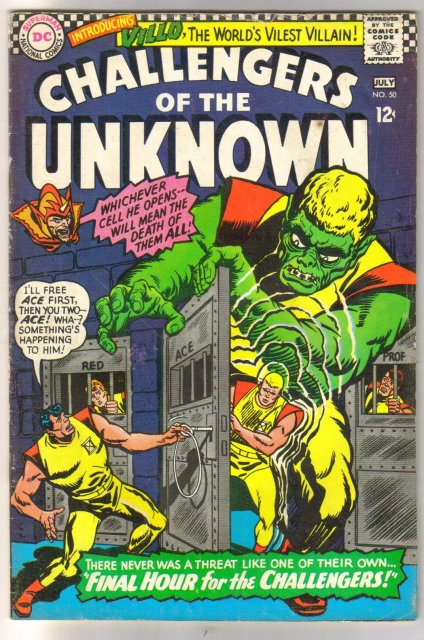 Challengers of the Unknown #50 comic book very good/fine 5.0