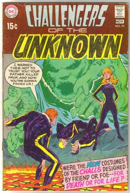 Challengers of the Unknown #70 comic book fine 6.0