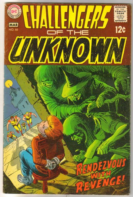 Challengers of the Unknown #66 comic book fine 6.0