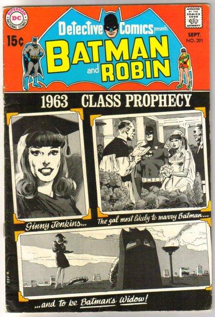Batman's Detective Comics #391 comic book very good 4.0